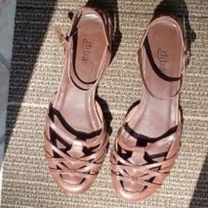 All Leather Diba Strappy Huarache Flats Shoes 8.5